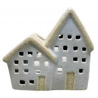 Ceramic Cottage Lantern Grey