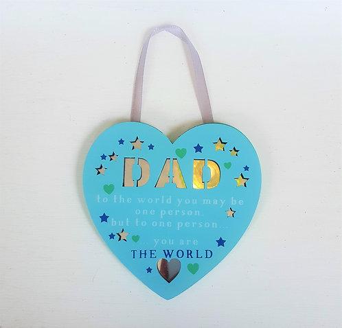 Wooden Dad Plaque