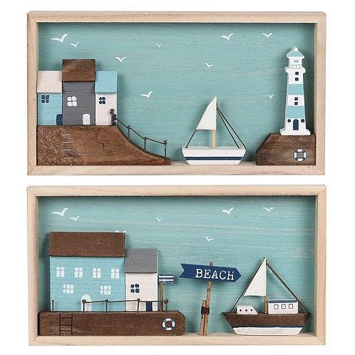 Wooden Beach Plaques