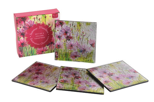 Summer Meadow Square Coasters