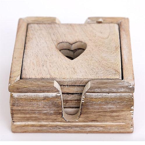 Rustic Heart Coasters