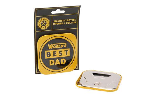 World's Best Dad Bottle Opener Coaster