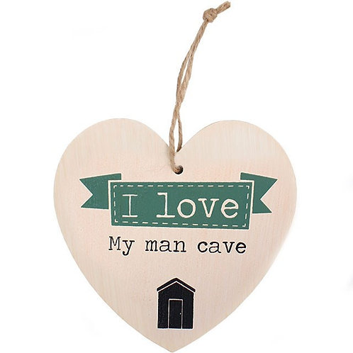 Man Cave Hanging Heart