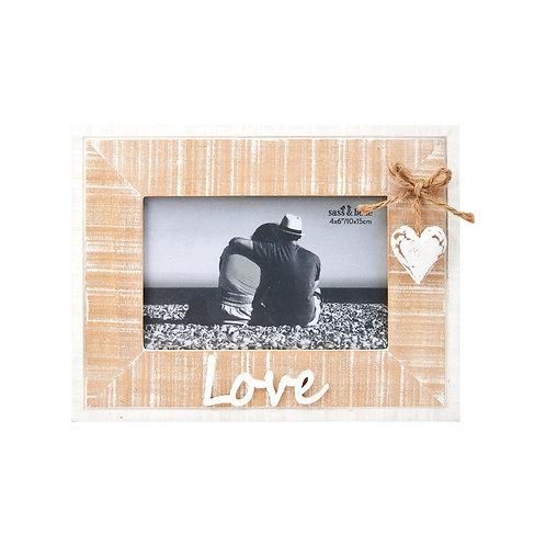 Rustic Heart Love  Frame