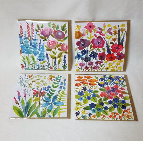 Floral Madness Cards