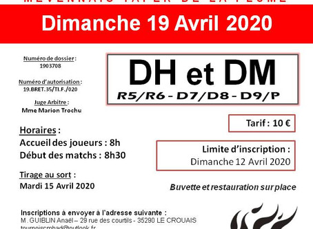 Tournoi Adulte 19/04/2020