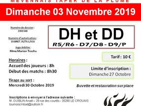 TOURNOI ADULTE - 03/11/2019