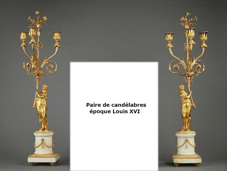Candélabres Louis XVI