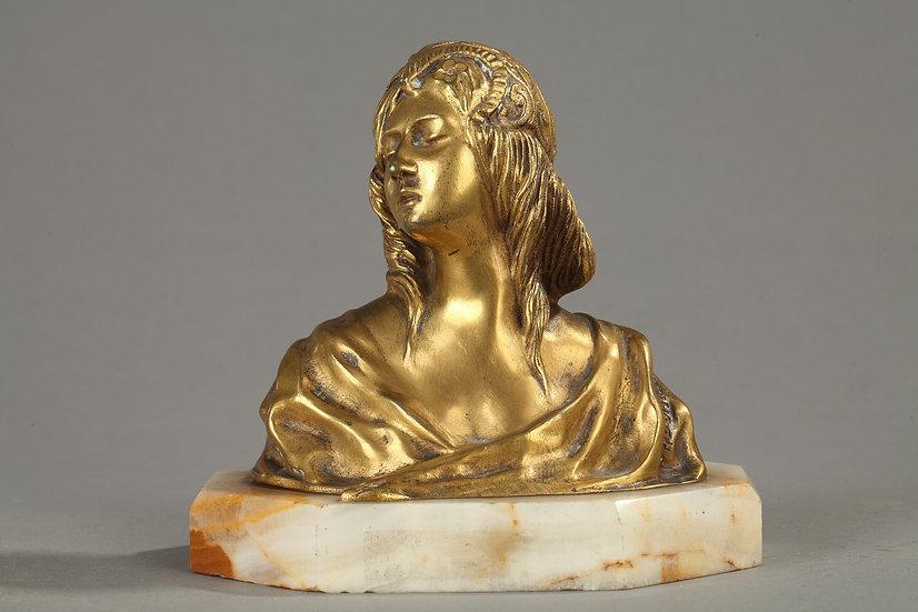 Buste De Jeune Femme Signé Loiseau Rousseau