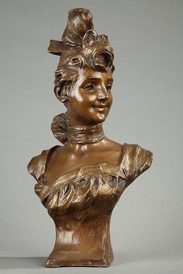 Georges VAN DEN STRAETEN-buste de jeune fille