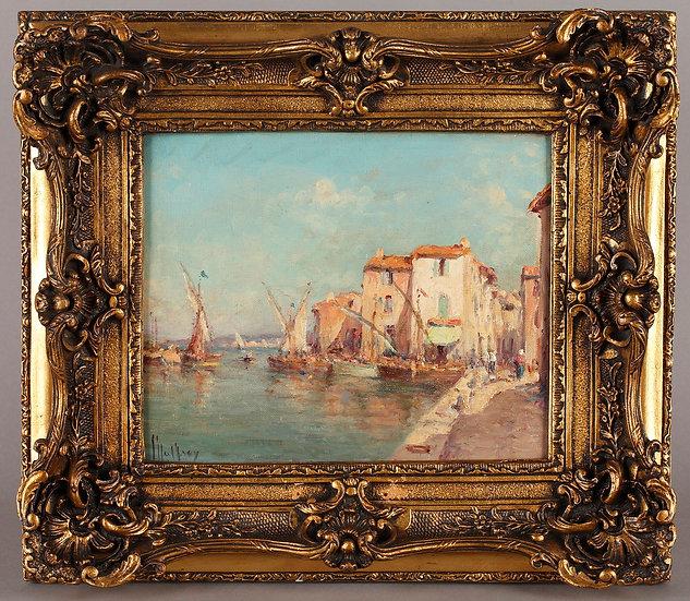 Saint Tropez par H.MALFROY, huile sur toile