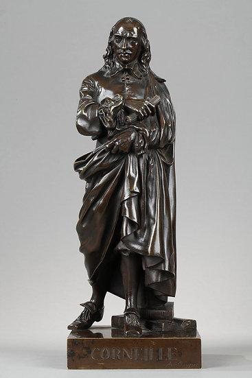 CORNEILLE; sculpture en bronze, E.Melingue, fondeur Susse frères