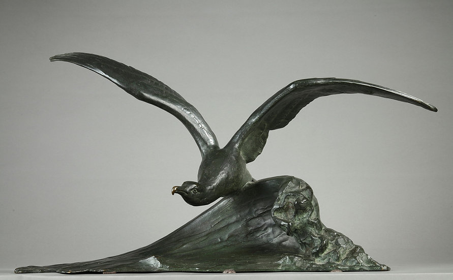 "Bronze, ""l'Envol de la mouette"" M.FIOT"