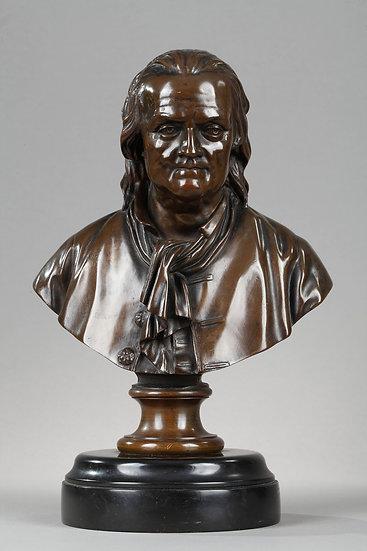Buste  Benjamin Franklin. F. Barbedienne