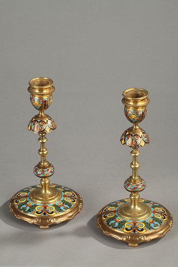 Paire chandeliers signés: Barbedienne
