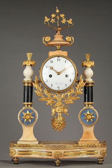 """Pendule Louis XVI, signée """"Allard à Paris""""et """"Coteau'"""