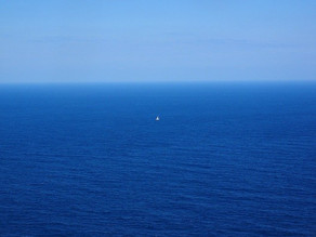 Imagine you are on a boat in the wide ocean.