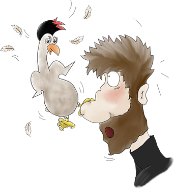 Cluck has my nose!.png