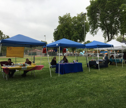 Waiting for the public to arrive at Las Palams Park Easter Event 2019