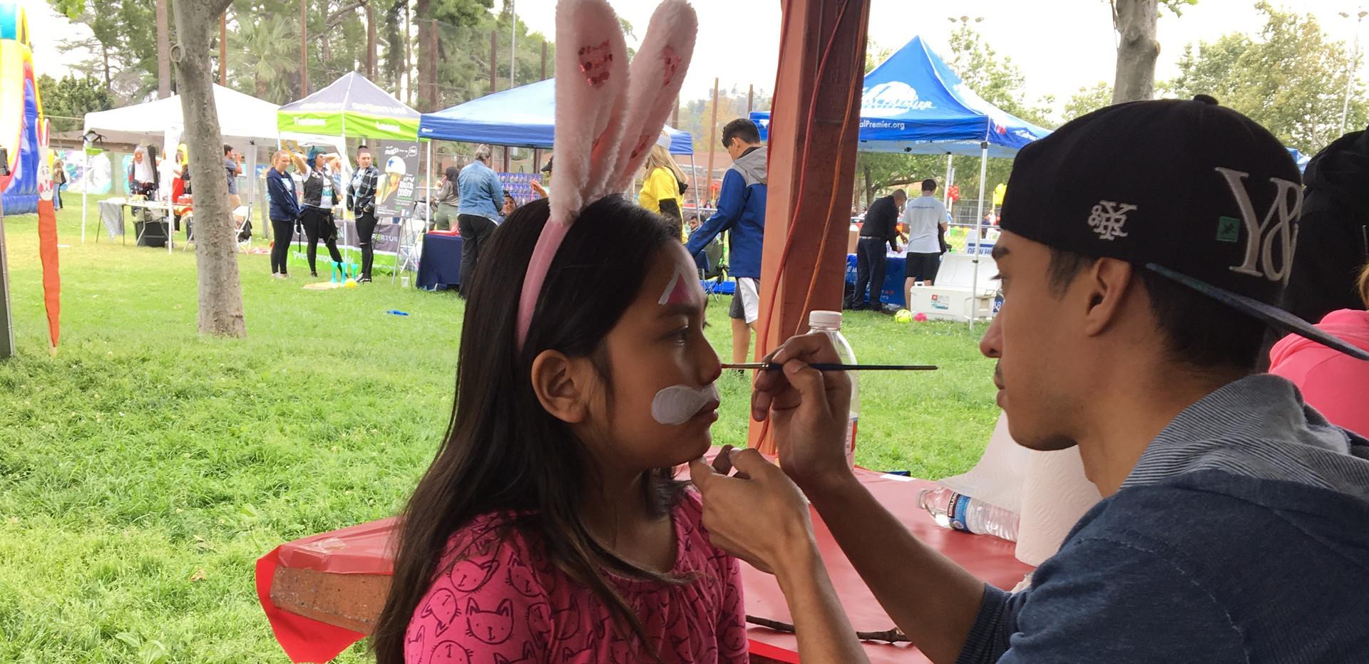 Face Painting at Las Palmas Park
