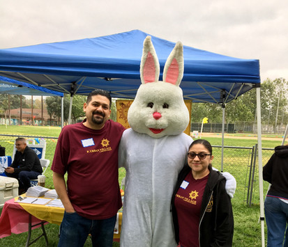 Che Che and Mary, PUV Board Members working the 2019 Easter Event at Las Palmas Park