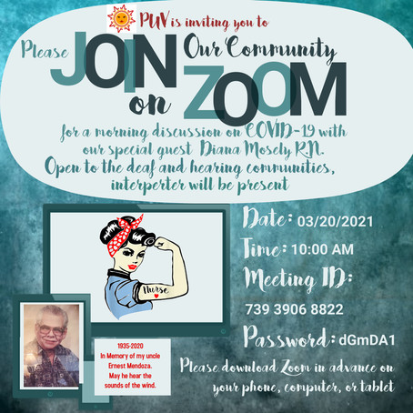 PUV on ZOOM  *****Please Join Us*****