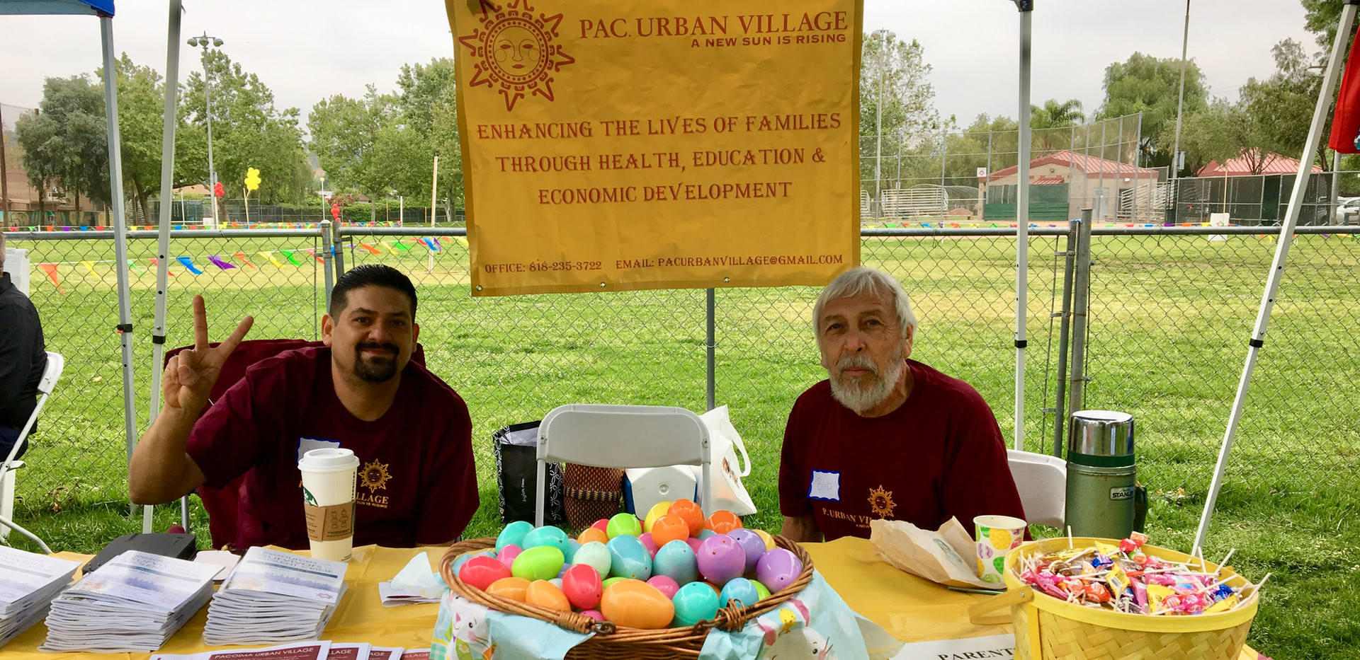 Che Che and Bob, PUV Board Members working the 2019 Easter Event at Las Palmas Park