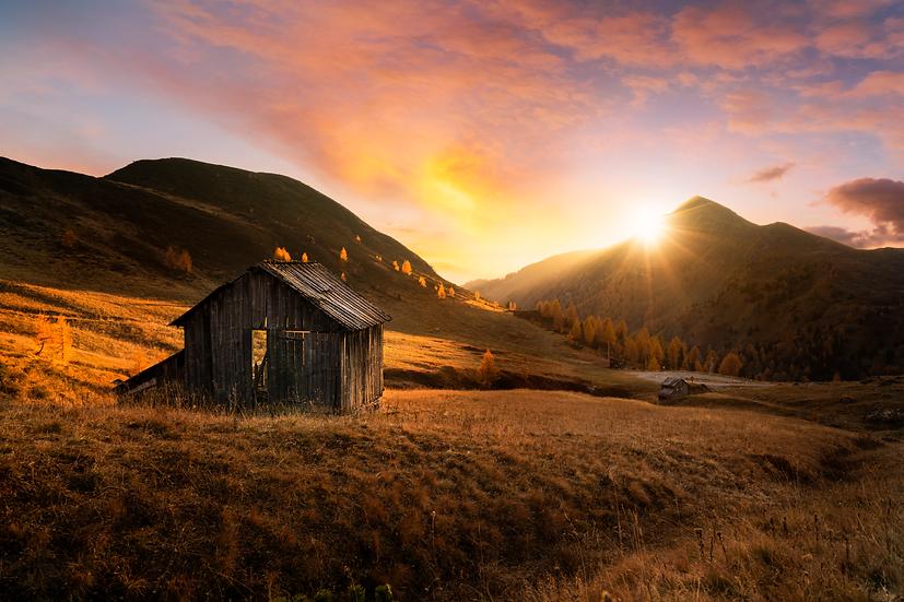 Sunset dans les Dolomites