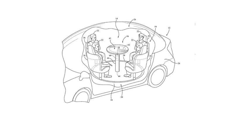 Ford запатентовал стол с подушкой безопасности