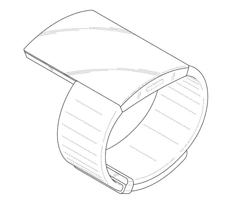 Samsung работает над носимым гаджетом с большим дисплеем