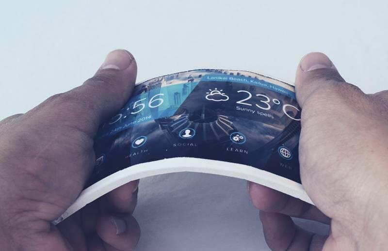 В 2018 году Samsung выпустит смартфон с гибким экраном