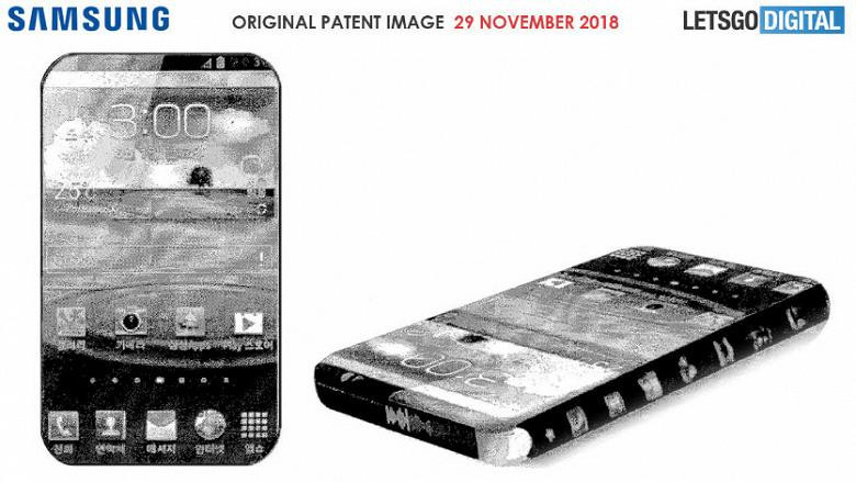 Samsung запатентовал полностью безрамочный смартфон с дисплеями по бокам