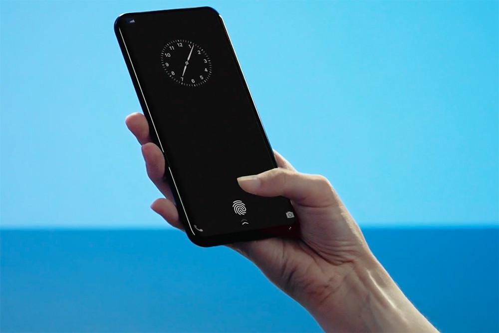 Китайская компания Vivo показала смартфон со сканером отпечатка пальца, который находится за экраном
