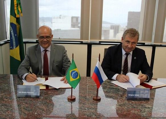 Подписан Меморандум о взаимопонимании между Роспатентом и Национальным институтом промышленной собственности (Бразилия)