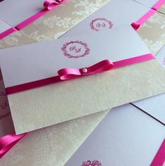 Convite White Pink I