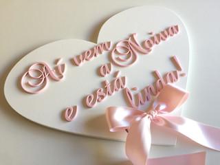 Placa de entrada de noiva