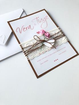 Convite Romantic Flower