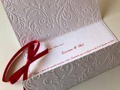 Convite White Red