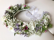 Coroa de Flores naturais