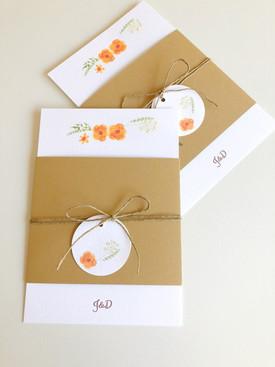 Convite Orange Flowers