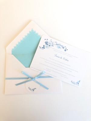 Convite Blue Flower