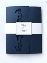 Convite Blue & Silver