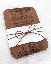 Convite Paper Wood