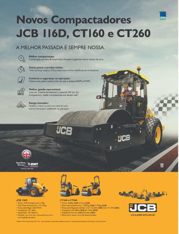 Publicidade feita com nossa imagem realizada na fábrica da JCB em Sorocaba.