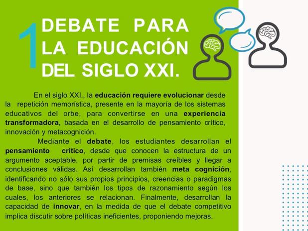 Debate para la educación del S. XXI.