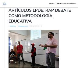 Rap Debate. Liga Peruana de Debate Escolar.