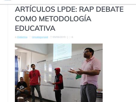 Rap Debate como Metodología Educativa. Liga Peruana de Debate Escolar.