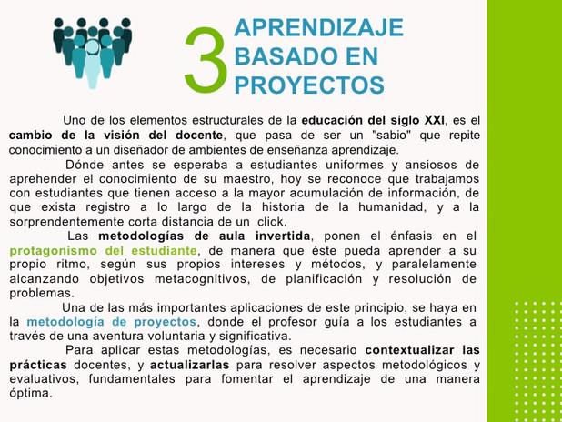 Aula invertida y aprendizaje basado en proyectos.