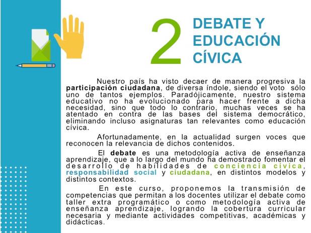 Debate y educación cívica