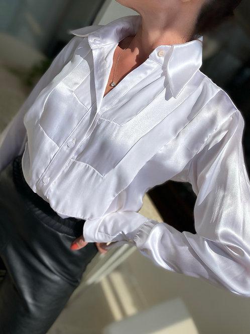 Camisa cetim de seda